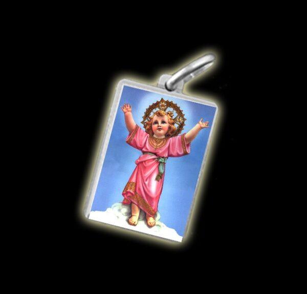 Medaglia - Immagine a colori DIVINO NINO -  argento 925 gr 3