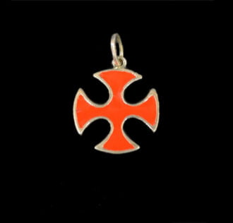 Templar Cross in enamelled silver GR 3