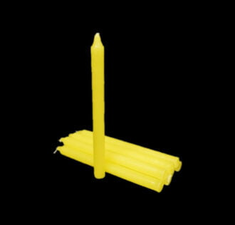 Yellow candle- Package 8 pCS 19 Cm