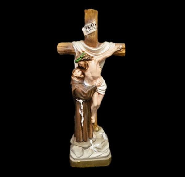 Plaster statue San Francesco di Assisi cm 22