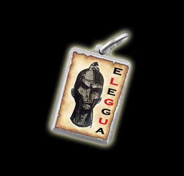 Medaglia - Immagine a colori ELEGGUA - argento 925