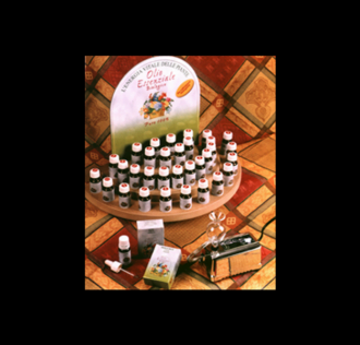 WOODEN COUNTER DISPLAY ESSENTIAL OILS