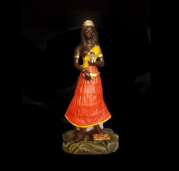 Statua in gesso Ewa Candomblé cm 22