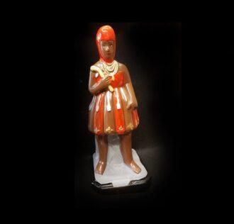 Statua in gesso Exù Candomblè cm 22