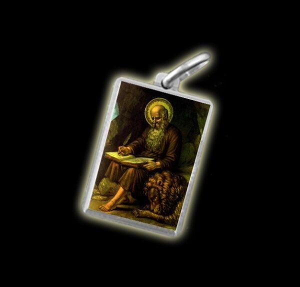 Medaglia - Immagine a colori SAN GEROLAMO -  argento 925