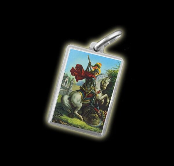 Medaglia - Immagine a colori SAN GIORGIO -  argento 925