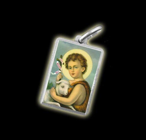 Medaglia - Immagine a colori SAN GIOVANNI BAMBINO -  argento 925