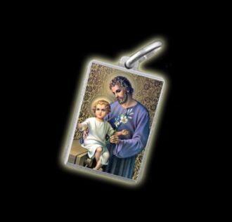 Medaglia - Immagine a colori SAN GIUSEPPE - argento 925