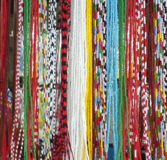 GUIA BRANCA/VERMELHA (Grande) bianca/rossa