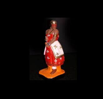 Plaster Statue Iansà  Candomblè cm 22