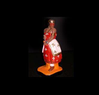 Statua in gesso Iansà Candomblè cm 46