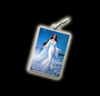 Medaglia - Immagine a colori IEMANJA' STELLA MARIS -  argento 925