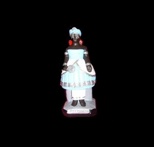 Plaster Statue Iemanjà Candomblè cm 25