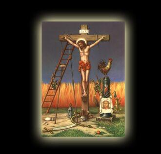 LA PASSIONE DI CRISTO - JUSTO JUEZ - STAMPA SUBLIMATICA SU ALLUMINIO CM 20 X 15