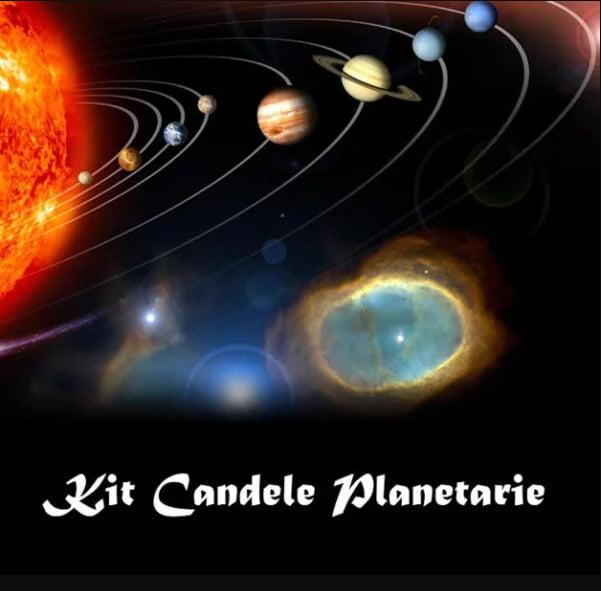 KIT CANDELA DELLA LUNA - COLOR ARGENTO - CM 19 X 2,2