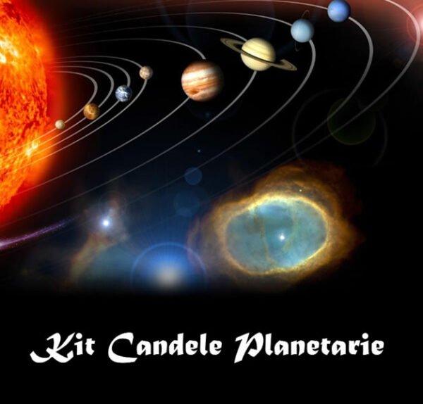 KIT CANDELA DEL SOLE - COLOR ORO - CM 19 X 2,2