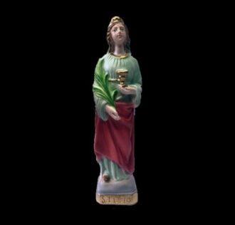 Plaster statue Saint Lucia cm 20