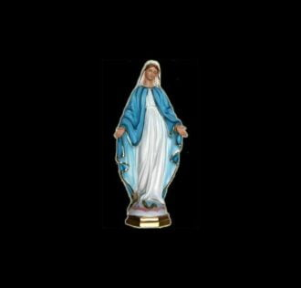 Plaster statue Our Lady of the Miraculous Medal cm 21