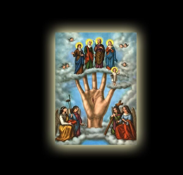 POWERFUL HAND (MANO PODEROSA) - sublimation ON ALUMINUM 20 X 15 CM