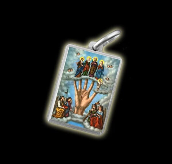 Medaglia - Immagine a colori LA MANO PODEROSA -  argento 925