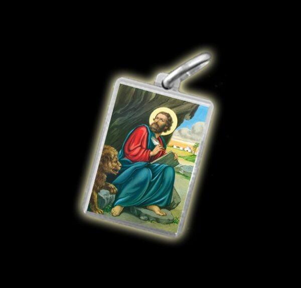 Medaglia - Immagine a colori SAN MARCO DEL LEONE -  argento 925