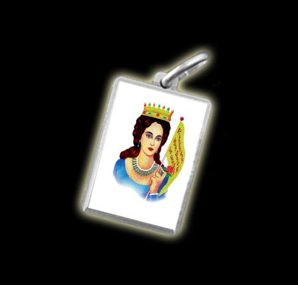 Medaglia - Immagine a colori MARIA LIONZA -  argento 925