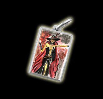 Medaglia - Immagine a colori POMBA GIRA MARIA PADILHA -  argento 925
