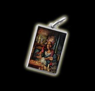 Medaglia - Immagine a colori  MARIE LAVEAU- argento 925