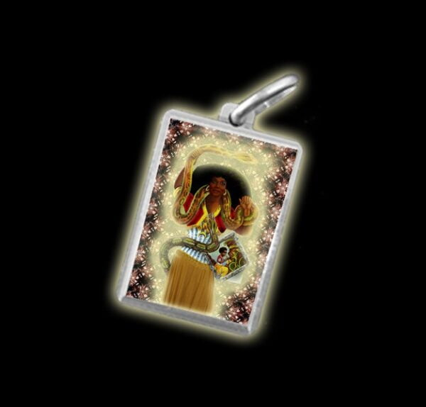 Medal - Coloured image SAINT MARTHA THE RULER (LA DOMINADORA) - silver 925