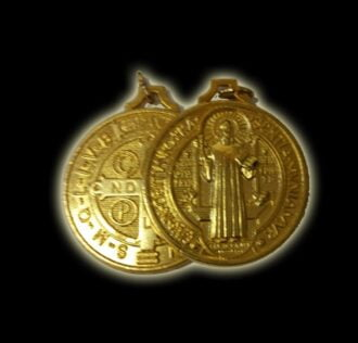 Medal of St. Benedict color gold (size cm 3)