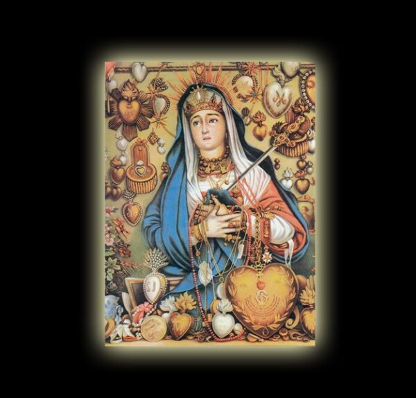 Mater Dolorosa METRESILI - sublimation ON ALUMINUM 20 X 15 CM