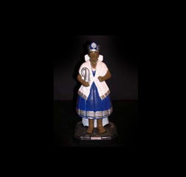 Statua in gesso Nanà Candomblè cm 22