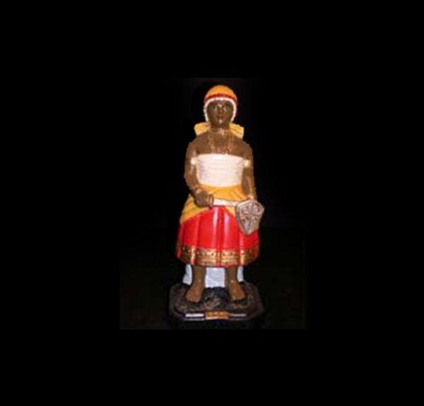Statua in gesso Obà Candomblè cm 22