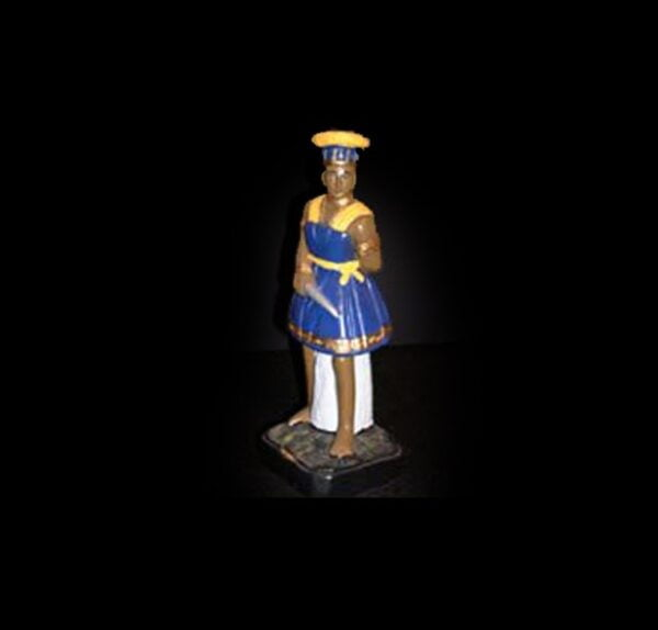 Plaster Statue Ogùm Candomblè cm 22