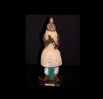 Statua in gesso Abaluayè Candomblè cm 22