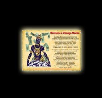 Orazione di Chango Macho - Pergamena