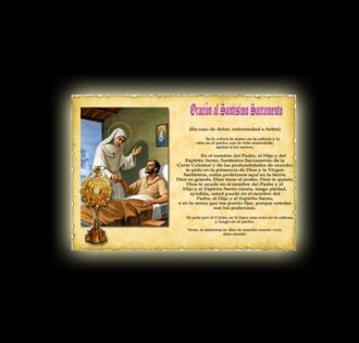 Orazione al Santissimo Sacramento Guarigione - Pergamena