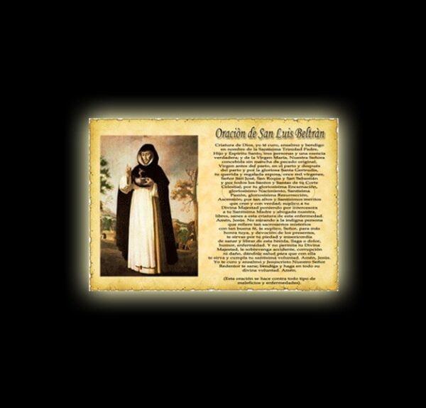 Saint Luis Beltràn's prayer - Parchment