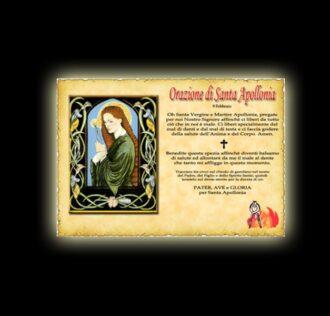 Saint Apollonia's prayer - parchment