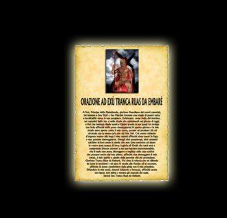 EXU Tranca Ruas's prayer - parchment