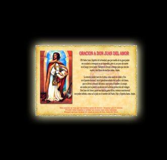 Orazione di Don Juan del Amor - Pergamena