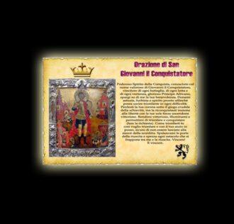 Orazione di Giovanni il Conquistatore- Pergamena
