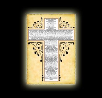 Holy Cross prayer - parchment