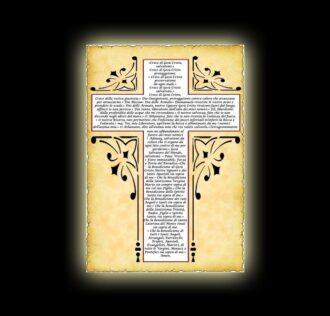 Orazione della Santa Croce - Pergamena