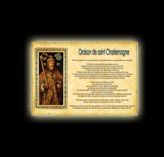 Orazione di Carlomagno - Pergamena