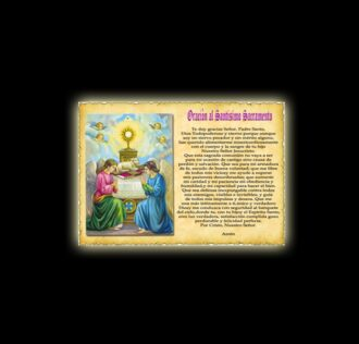 Orazione al Santissimo Sacramento - Pergamena
