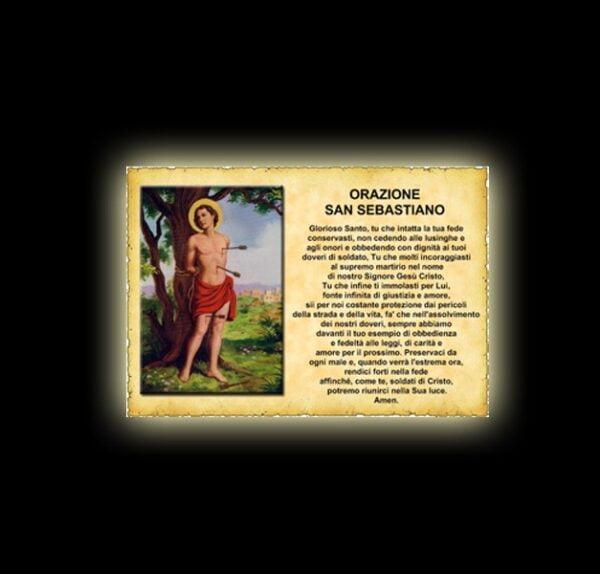 Saint Sebastian's prayer - parchment