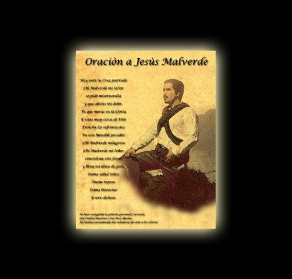 Jesus Malverde prayer - parchment