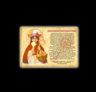 Christ Child of Atocha's prayer - parchment