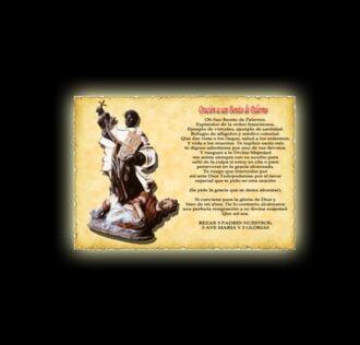 Orazione di San Benedetto di Palermo - Pergamena